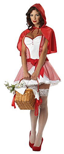 California Costumes Women's Miss Red Riding Hood Fairytale Costume, Red/White, X-Large