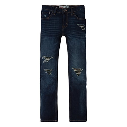 Levi's Big Boys' Slim Fit Distressed Jeans, Mission Beach, 16