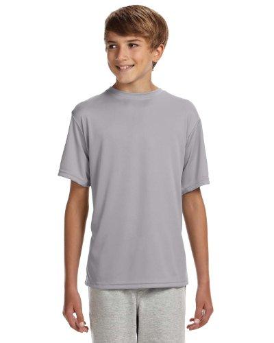 Argent Ras Du Cou A4 Courtes shirt Performance Refroidissement Manches T nbsp;youth qwqvYX