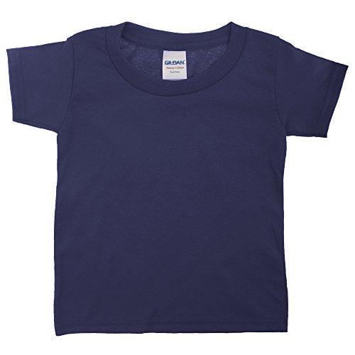 Gildan - Camiseta de manga corta de algodón unisex para niños Rojo