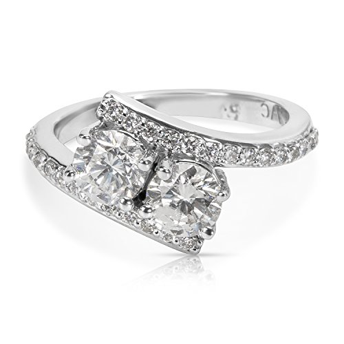 BRAND NEW Two Stoned Diamond Ring in 14K White Gold (1.25 CTW) by Loved Luxuries