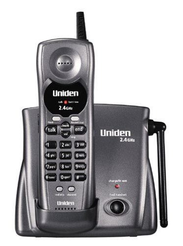 (Uniden EXP3241 2.4 GHz Extended Range Cordless Phone with One-Touch RocketDial (Metallic Charcoal))