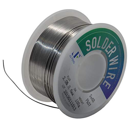 - J&F Rosin Core Solder 63/37 Leaded Electronics Solder, 0.6mm (100g)
