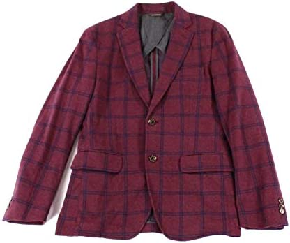 [해외]Tasso Elba Mens Checkered Two Button Blazer Jacket / Tasso Elba Mens Checkered Two Button Blazer Jacket