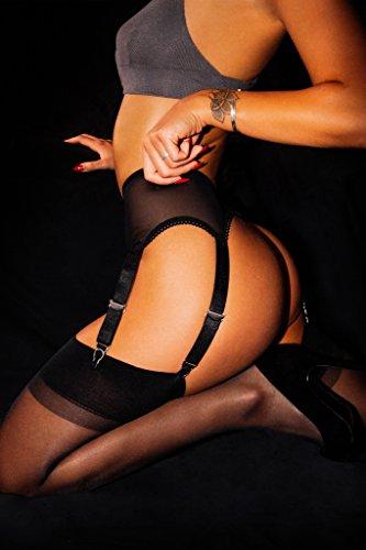 Sofsy Coscia Cintura Velate Calze Denari Normali Stockings 15 Per Sono Reggicalze Non Nero A Autoreggente In Italia E Altezza la Cintola prodotte Inclus rargw