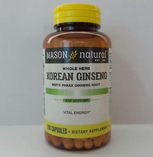(Mason Natural Korean Ginseng 518 Mg White Panax Ginseng Root Capsules - 100 Ea )