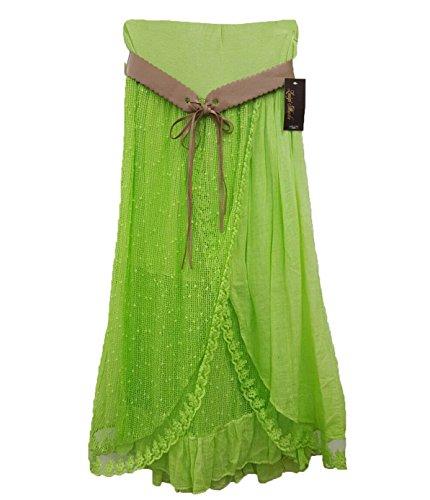 o Un Mujer Fluorescente Verde Negro Tama Ahr Falda H5tWqwtX