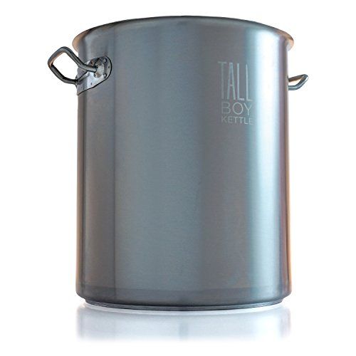 Northern Brewer Tall Boy HomeBrewing Stainless Steel Brew Kettle Stock Pot For Beer Brewing - (8 Gallon Capacity/32 Quarts)