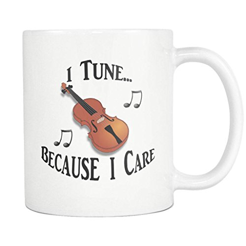 Bluegrass Tunes (Viola, Violin, Fiddle, Coffee, Tea, Mug, Musician, Music, Orchestra, Country, Classical, Bluegrass, Celtic, Tune, Ceramic, White, Cup, Notes, 11oz, 15oz, gift)