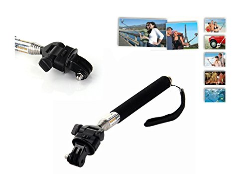 BlueHorn 5-in-1 Accessories Kit for GoPro Hero4 Silver Black Hero 4 Hero 3+/3/2/1 Camera, 360 Degree Rotating Adjustable Wrist Mount + Extendable Handle Monopod + Tripod Mount Adapter + Floating Handle Grip+Microfiber Cleaning Cloths.