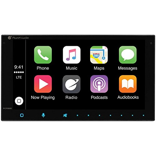 Planet Audio PCP9800A Apple CarPlay Multimedia Receiver Model Bluetooth, Double-Din, Android Auto, 6.75inch Touchscreen, No CD DVD Player by BOSS Audio Systems
