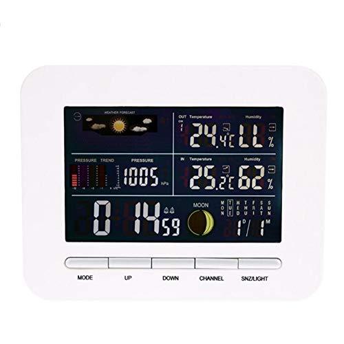 Reloj Despertador, Estación Meteorológica Inalámbrica Interior con Pantalla LCD Medir Temperatura Humedad para Hogar...