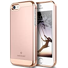 Caseology Savoy Series iPhone SE/5S/5 Cover Case with Stylish Design Glide Protective for Apple iPhone SE/5S/5 - Rose Gold