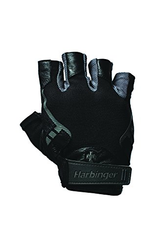Harbinger Pro Non-Wristwrap Weightlifting Gloves with Vented Cushioned Leather Palm (Pair), X-Large