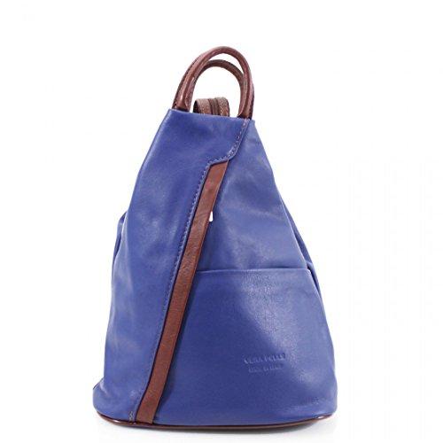 Zip Shoulder Craze Leather Brown Super Italian Backpack Rucksack Blue Convertible Rucksack Shoulder Bag Italian Leather Bag New and amp; London Soft Soft frU7fq6