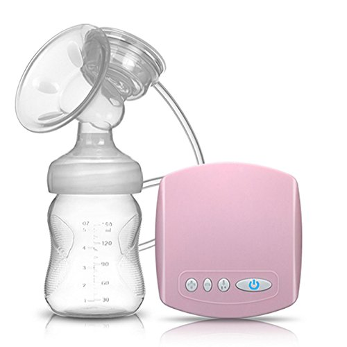 Smalody Original Electric Breast Pump Baby Natural Breast Suction Enlarger USB Kit Feeding Bottle Freestyle(Pink)