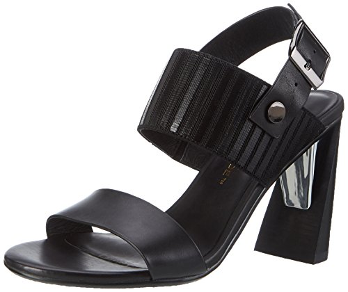 Sandals Open Zink Black Nude United Women's Toe Slingback Hi f4qpzP