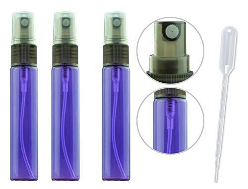 20 Pack Set 10ML Protable Refill Bulk Atomizer Spray Travel Perfume Bottle Hydrating Empty Bottle (Purple)
