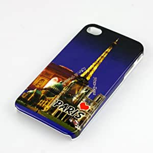 Kooko Paris Tower Hard Skin Case Cover Protector for Apple iPhone 4G 4S - Blue
