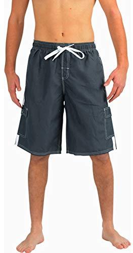 950bbde4c1 Swimwear, Surfwear & Wetsuits QRANSS Mens Waterproof Striped Swim Trunks  Lightweight Quick Dry Beach Shorts Men