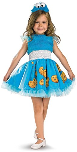 Frilly Cookie Monster Costume - Toddler Large size 4-6X (Cute Monster Costumes For Girls)