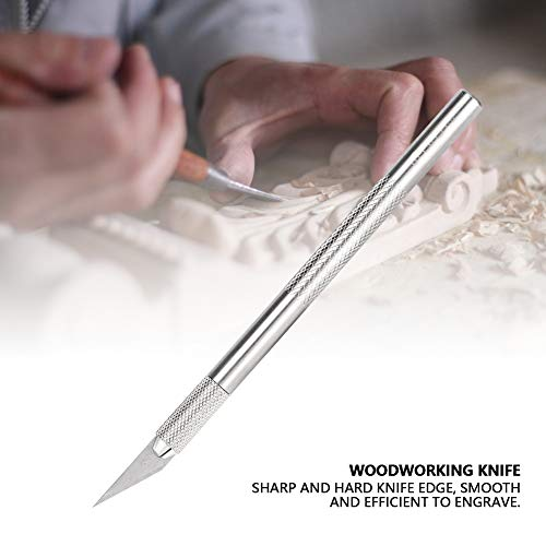 Manual Engraving Rubber Stamp, Walfront Woodworking Carving Knife Stainless Craft Tool by Wal front (Image #8)