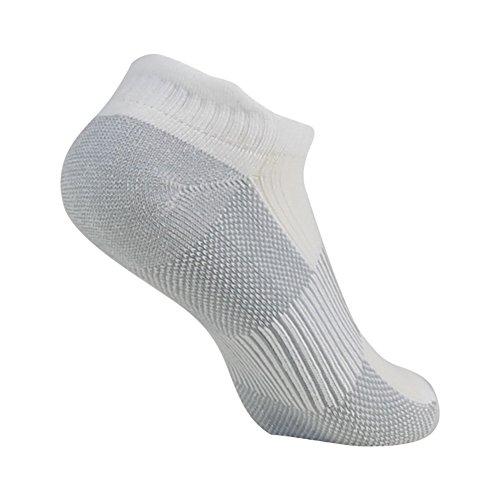 Antibacterial Athletic Socks, FOOTPLUS Men and Women Low Cut Copper Running Socks Moisture Wicking, 6 Pairs White Crew, Medium by FOOTPLUS (Image #6)