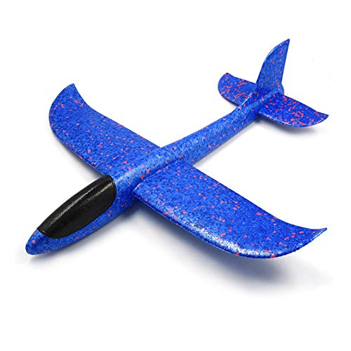 FairOnly 飛行機 模型 グライダー飛行機 キッズおもちゃ 手投げ 泡飛行機 クリスマス 誕生日 子供の日 ギフト ブルー