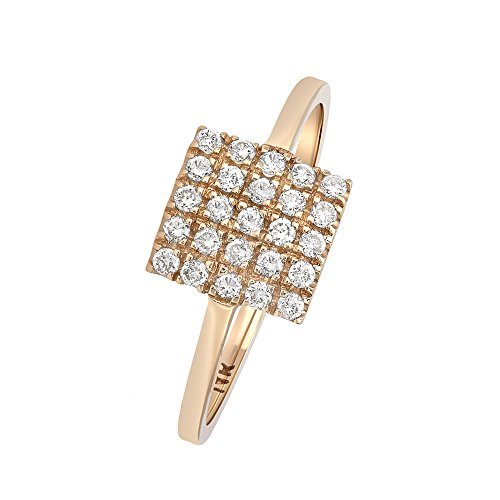 Square Shape Diamond Accented Ring - 4