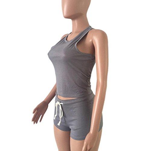 1d227d00a6 Women Summer Shirt, Inkach Women Sleeveless Split 2 Piece Set Casual Short  Pants Casual Outfit