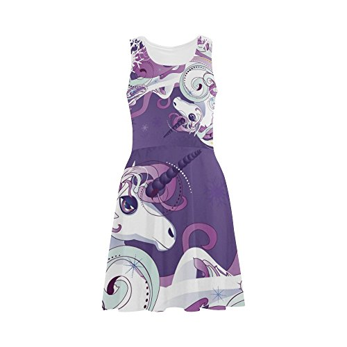 Women Dress Unicorn Story Sundress Women D Summer Sleeveless Dress gxOqTxwXR