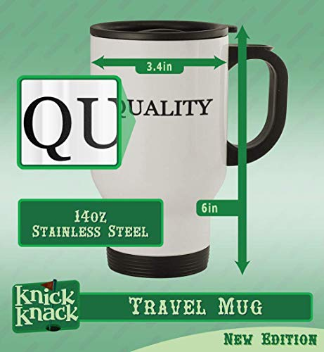 #promoter - 14oz Stainless Steel Travel Mug, Silver |