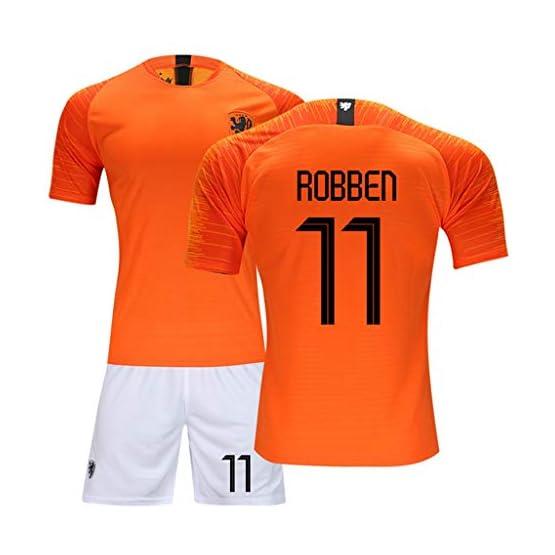 HS-ZGC Robben # 11 Même Costume de Football Fans Vêtements de Sport Vêtements d'entraînement Compétition Entraînement Uniformes Uniformes Deux Ensembles de Maillots,M(170~175cm)