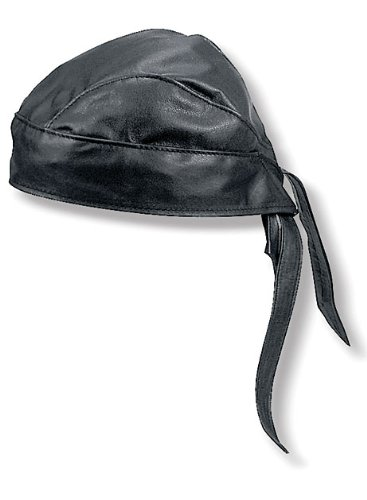 Leather Headwrap (Carroll Leather I0100 Black Leather Head Wrap)