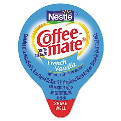 Coffee-Mate - Liquid Coffee Creamer Mini Cups French Vanilla 180/Box ''Product Category: Breakroom And Janitorial/Beverages & Snack Foods'' by Nestle