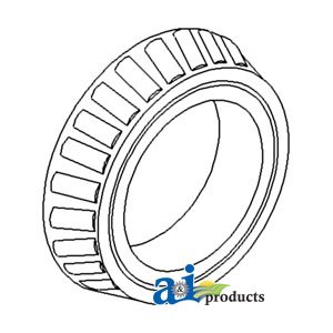 - A&I Products BEARING Cone, Rear Axle Outer (W/4 SP. TRANS) Replacement for ...