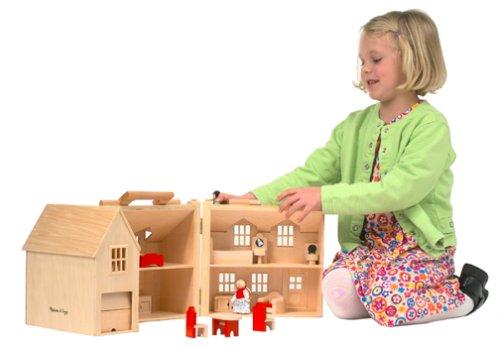 Melissa Doug Fold Go Dollhouse Toysgeeks