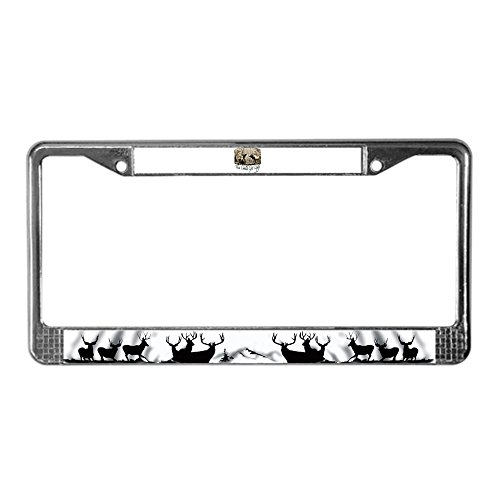 CafePress - Elk Rumble - Chrome License Plate Frame, License Tag Holder