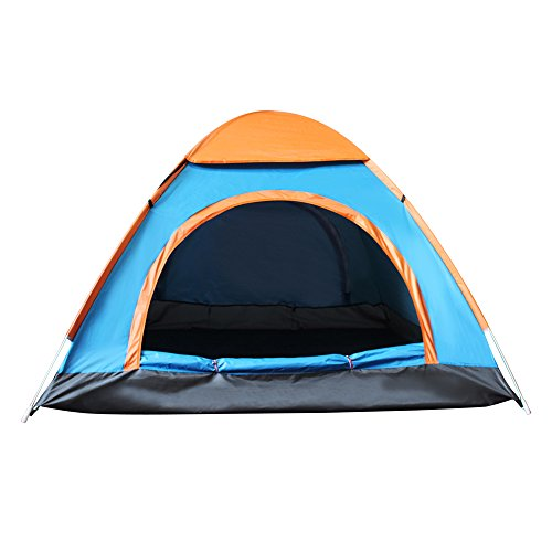 Techcell 2 Seconds Open Pop Up Throw Tent 3-4 Person Tent Hiking Fast Set-Up Camping Instant Tent Waterproof Tent Backpacking Tents for Camping Hiking Traveling (Blue) by Techcell