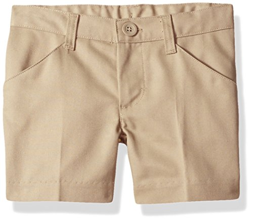 - Classroom Uniforms Big Girls' Flat Front Low Rise Short, Khaki, 10