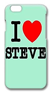 ACESR Lightweight iPhone 6 Cases, I Love Steve PC Hard Case Cover for Apple iPhone 6 (4.7 INCH) - 3D Design iPhone 6 Case