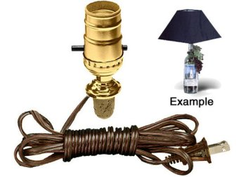 Cork Stopper Lamp Kit Turns A Keepsake Wine Bottle Into An Instant Lamp!  (Lot