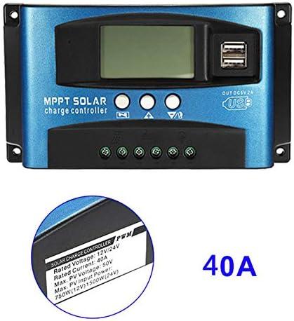 Alftek 40A-100A MPPT Solarpanel Regler Laderegler 12 V / 24 V Autofokus Tracking Device