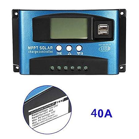 Alftek 40 A-100 a MPPT Panneau Solaire Ré gulateur de contrô leur de Charge 12 V/24 V Mise au Point Automatique Appareil de Suivi