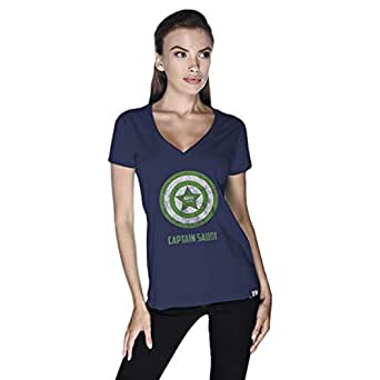 Creo Capital Saudi T-Shirt For Women - S, Navy