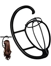 Dreamlover Wig Hangers, Portable Wig Stands for Wigs, Black, 2 Pack