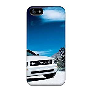 Defender Case With Nice Appearance (white Ford Mustang) For Iphone 5/5s