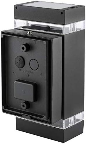 2er Set LED Wandlampe up & down schwarz - Außen Wandleuchte IP44 Aufbauleuchte inkl. 2x LED Leuchtmittel 3W 230V GU10 warmweiß