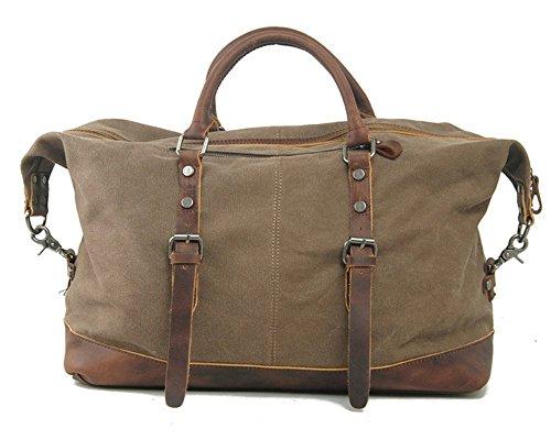 Everdoss XL Weekender Herren Vintage Handgepäck Reisetasche Sporttasche braun