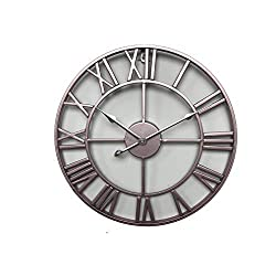 Fengfeng Wall Clock, European Creative Retro Wall-Mounted Clocks Living Room Wall Hanging Decoration Wall Bell Wrought Iron Simple Personality Wall Charts